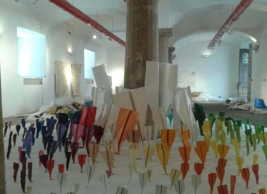 Palazzo Reale, Sala Dorica invasa da 500 paperplanes