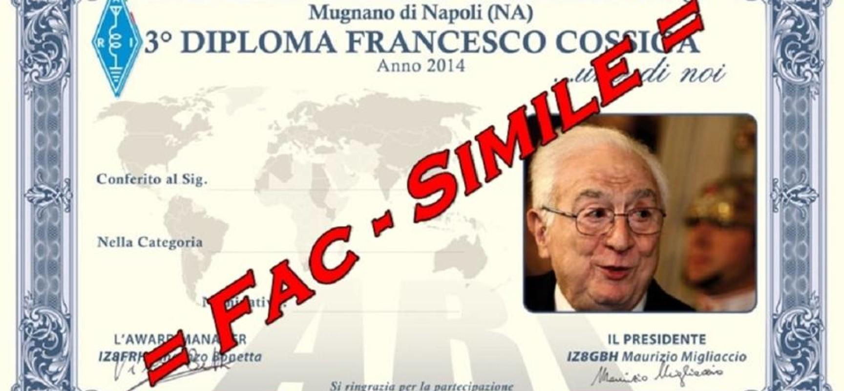 Radioamatori, tutti a raccolta per il diploma Ari Francesco Cossiga
