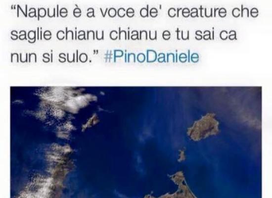 Samanta Cristoferetti dallo spazio saluta Pino Daniele