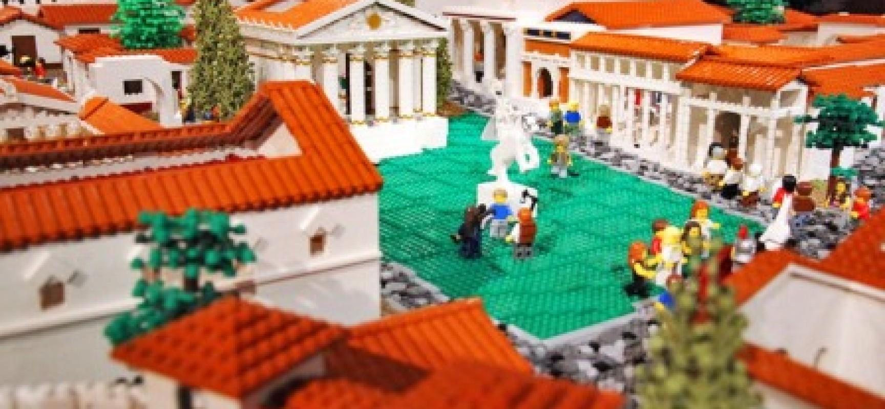 Pompei ricostruita in Lego