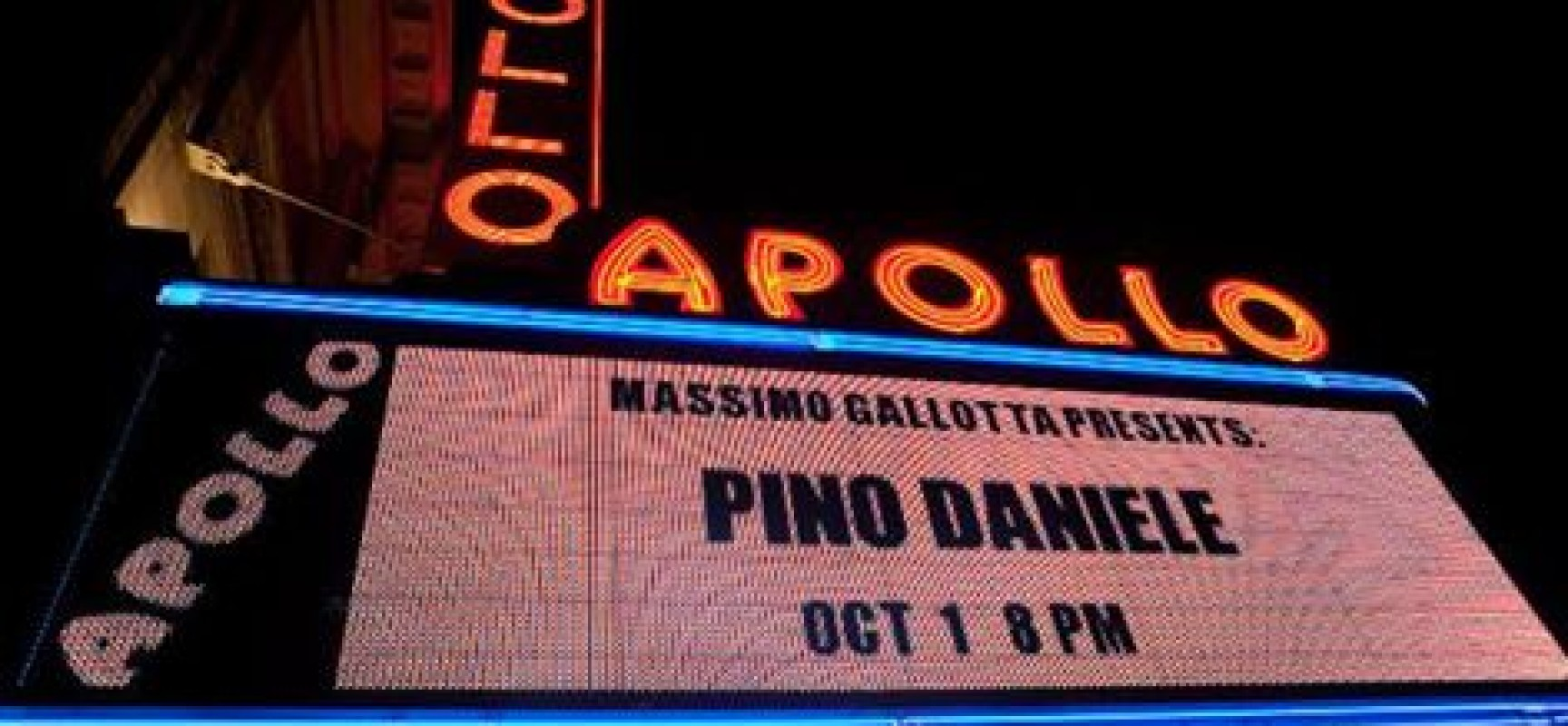 Pino Daniele cordoglio dal mondo, Usa primo italiano a suonare Apollo Theater New York