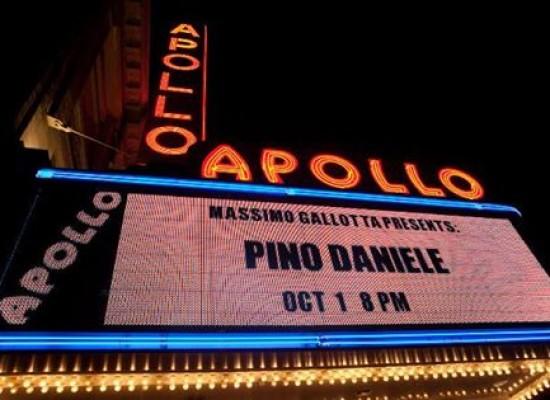 Pino Daniele cordoglio dal mondo, Usa primo italiano a suonare Apollo Theater New York