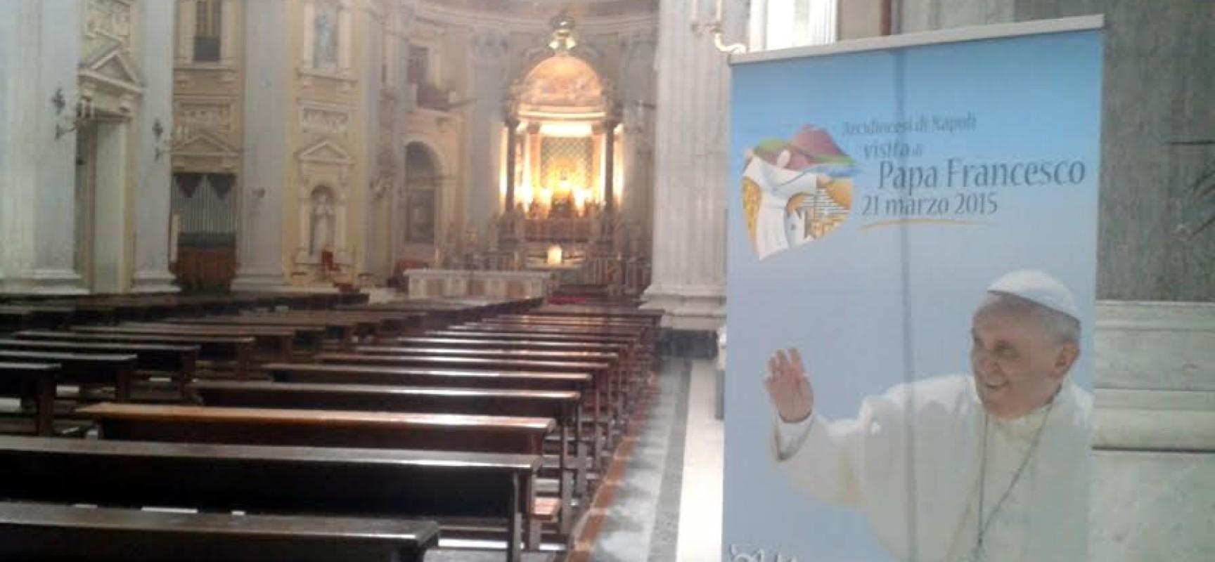 Papa Francesco, pranzo a Poggioreale