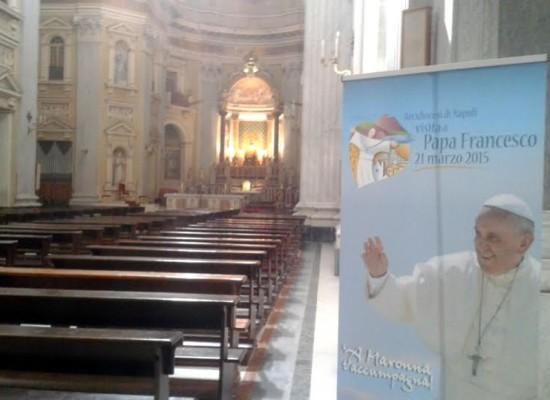 21 Marzo visita Papa Francesco, Napoli in preparazione