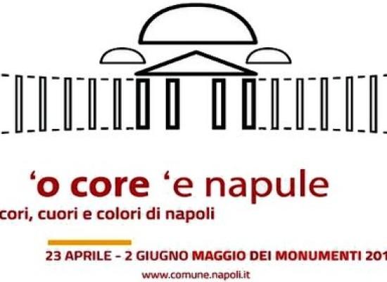 Da Leopardi a Pino Daniele, un Maggio Monumenti colorati e con tanti cuori