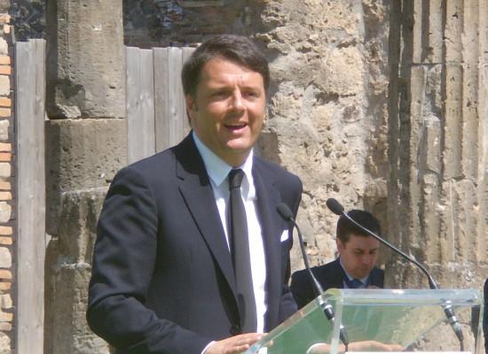 Renzi a Pompei un pezzo di futuro dell'Italia