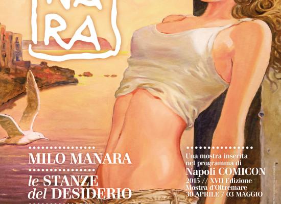 Milo Manara al PAN con Le Stanze del Desiderio, anteprima di Napoli COMICON