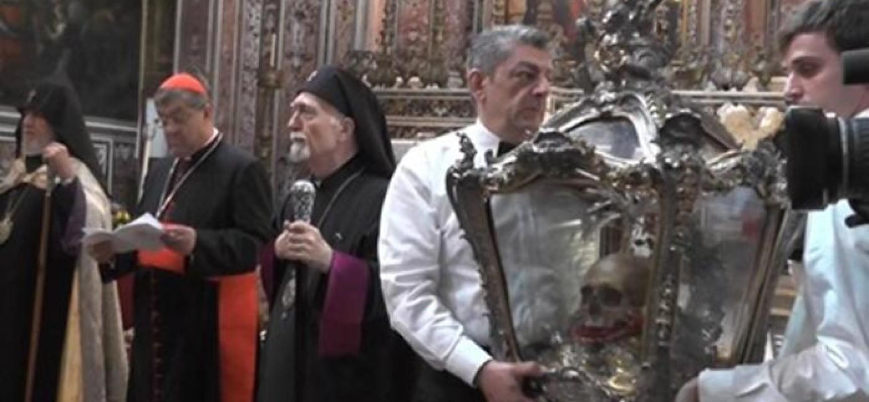 San Gregorio Armeno, una stele per centenario genocidio armeno