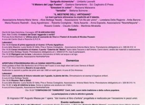 Casina Vanvitelliana Fusaro, quarantotto ore di arte ed artigianato