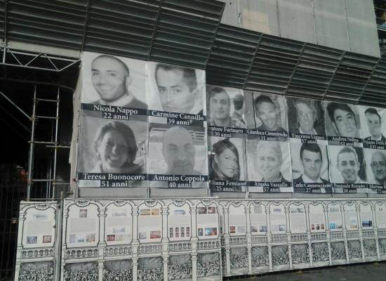Palazzo Reale sulla facciata le vittime della criminalita'