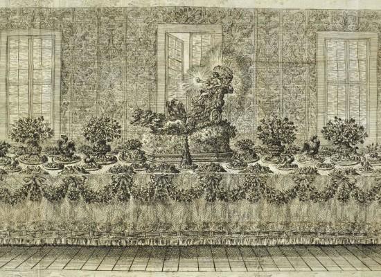 Biblioteca Nazionale Napoli, Dai banchetti reali alla cuccagna, il cibo in scena