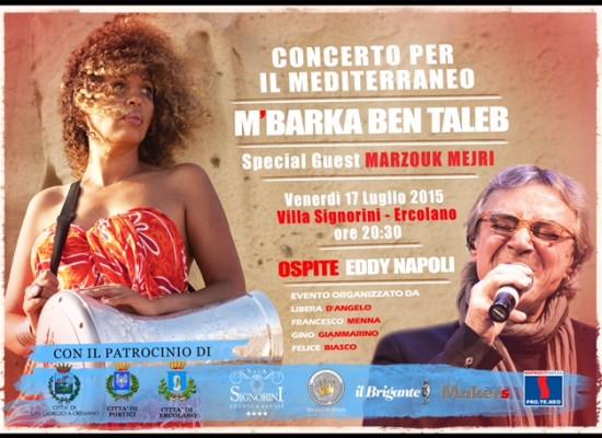 M'Barka Ben Taleb in concerto per il Mediterraneo a Ercolano