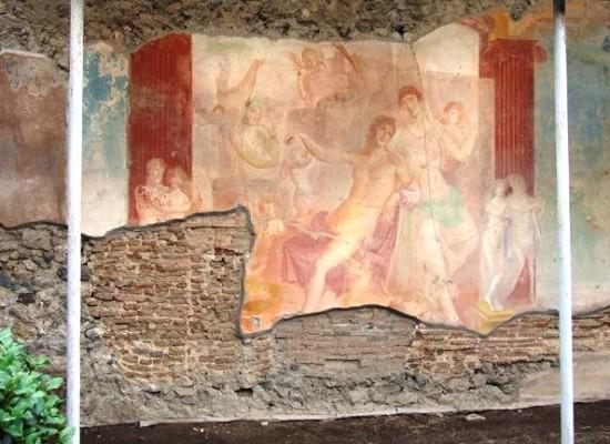 Pompei, Adone ferito, il restauro nel giorno dell'eruzione