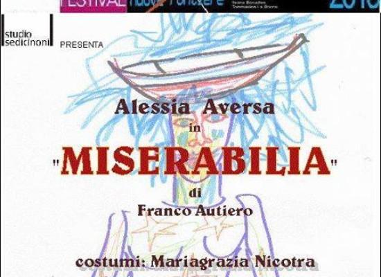 Miserabilia in scena con Alessia Aversa, regia di Bruno Garofalo