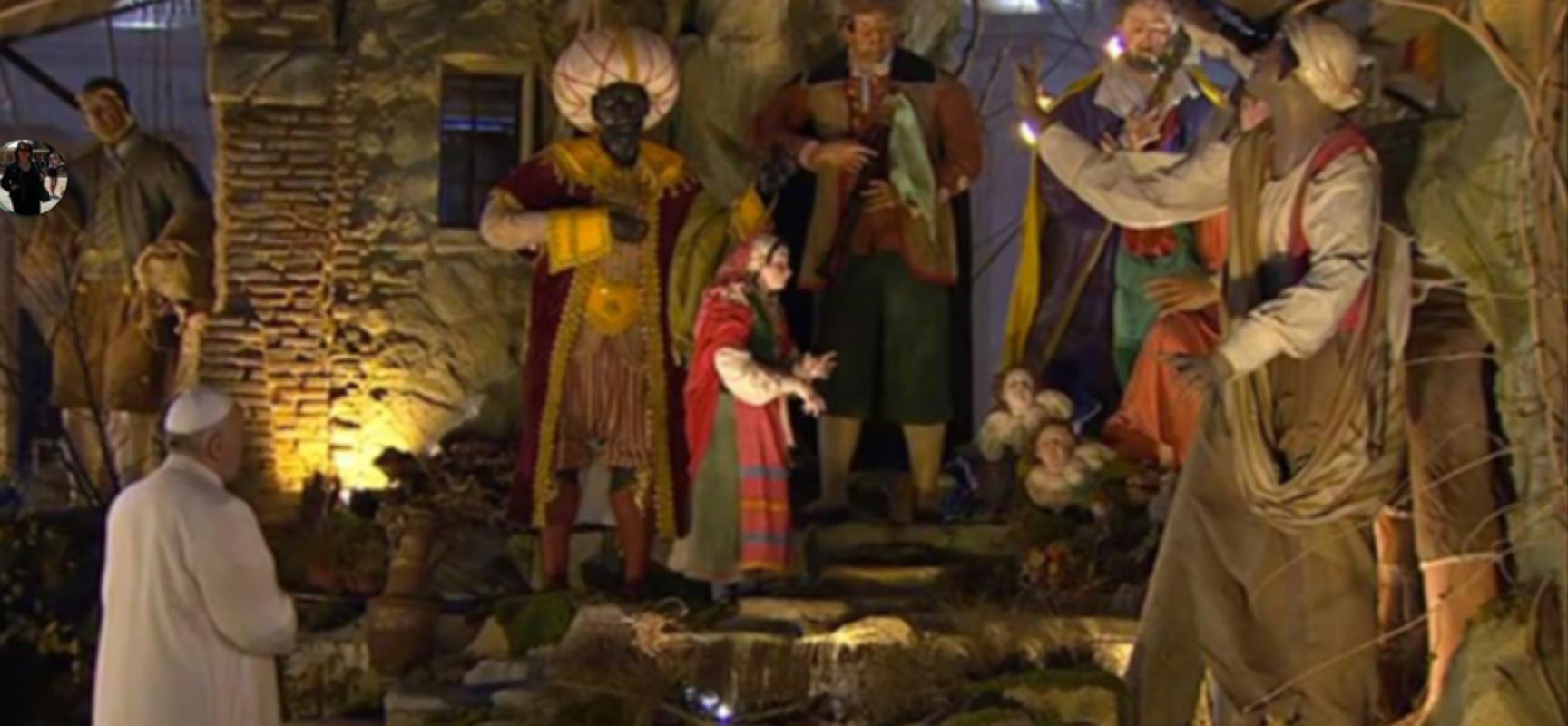 Natale 2015, Basilica San Francesco di Assisi presepe napoletano