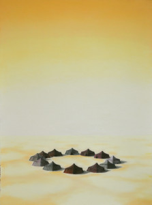 10 title - center of gravity - pastel on paper 30x225 inches cm 2012