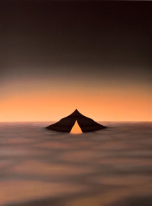 26 - title - black tent - oil on linen 185x132x5 cm 2012