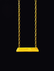 34 - title -The gold swing oil on linen 170X 130X 5 cm year 2011
