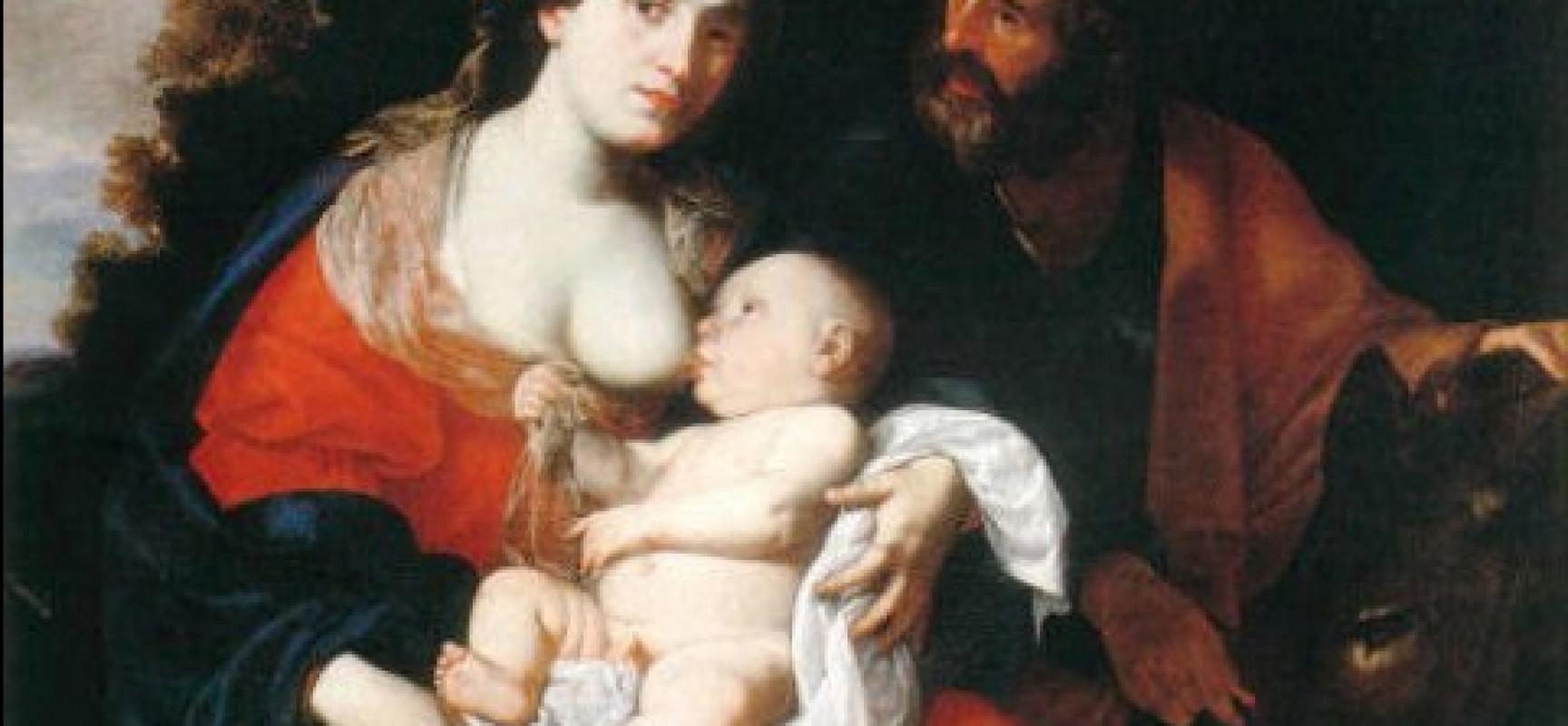 Filippo Vitale, Riposo durante la fuga in Egitto - olio su tela  - Potenza, Collezione Camillo d'Errico di Palazzo San Ge~1
