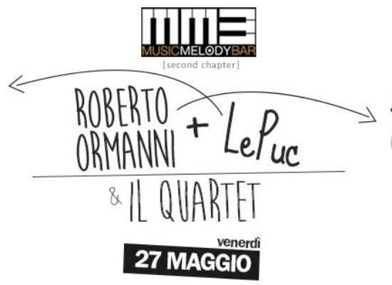 LePuc e Roberto Ormanni & il Quartet, un evento da non perdere