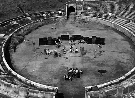 Pompei, Anfiteatro apre sotterranei ai Pink Floyd