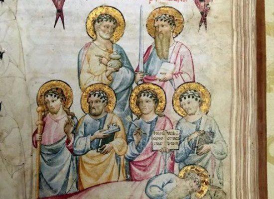 Biblioteca nazionale mostra Dante, Boccaccio e Petrarca