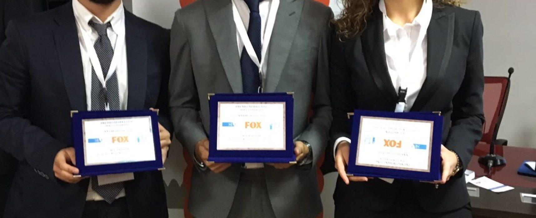 PREMIO MARKETING FOX, vincitori tre studenti SUN