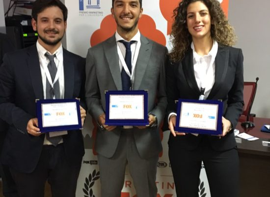 PREMIO MARKETING FOX, vincitori tre studenti SUN