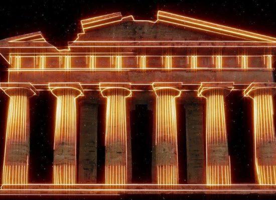 Paestum, tempio Nettuno diventa telaschermo