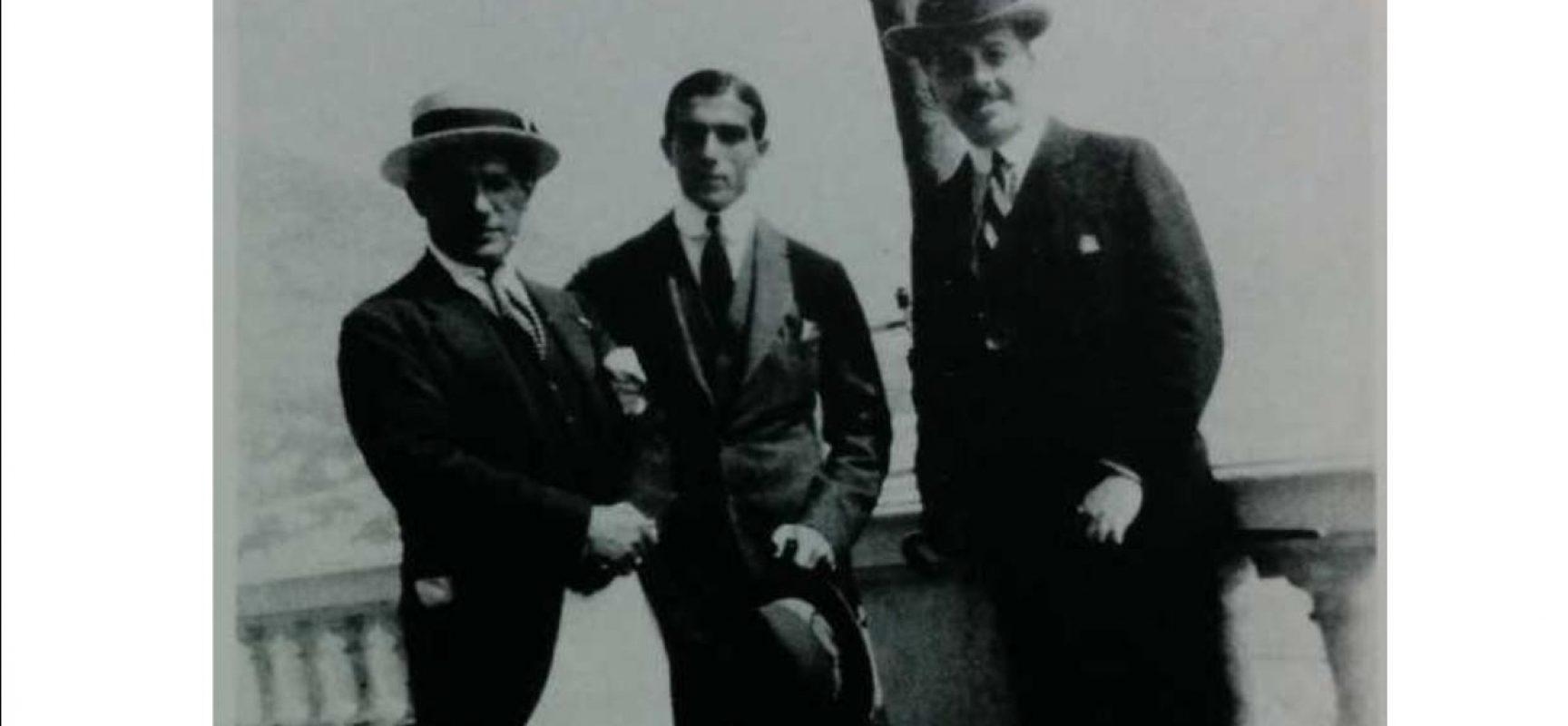 Pablo Picasso, Léonide Massine e Sergeij Diaghilev a Napoli (1917)