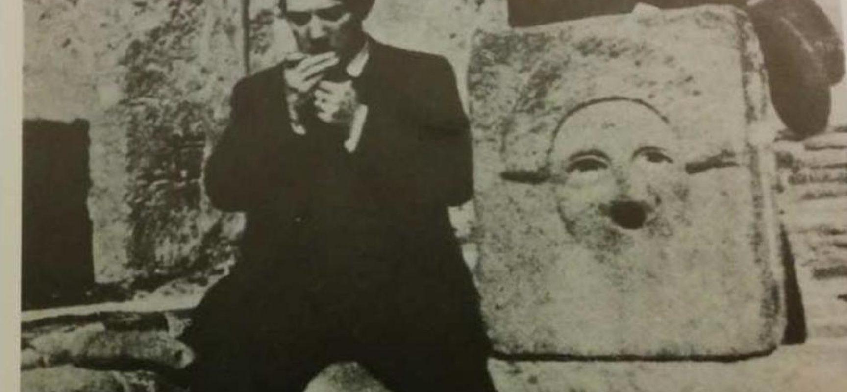 Pablo Picasso e Léonide Massine a Pompei (1917) fotografia, Collezione Boris Kochno, Parigi