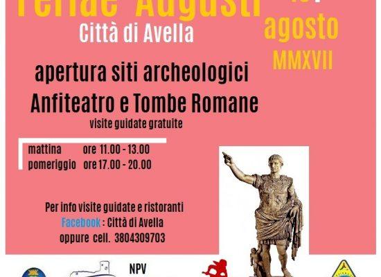 Ferragosto 2017, ad Avella sarà Feriae Augusti