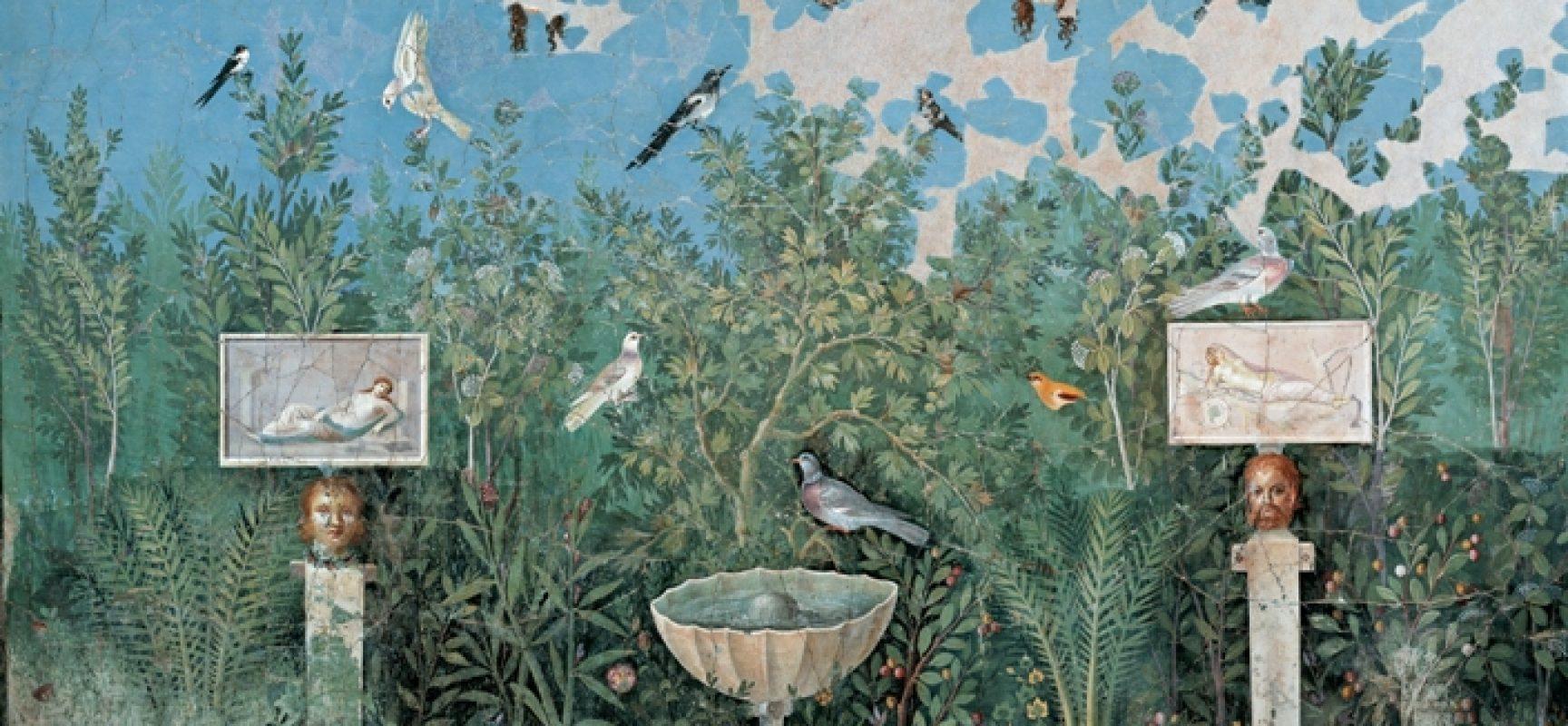 Pompei e Oplontis visite di notte con le pitture del giardino